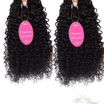 Kinky Curl Brazilian Virgin Hair Wefts 2pcs/Lot Human Virgin Hair Weaves 2 Bundles [BRWKC2]
