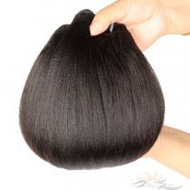 Light Yaki Brazilian Virgin Hair Wefts 4pcs/Lot Human Virgin Hair Weaves 4 Bundles [BRWLY4]