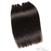 Light Yaki Brazilian Virgin Hair Wefts 2pcs/Lot Human Virgin Hair Weaves 2 Bundles [BRWLY2]