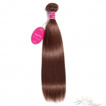 Color #4 Silky Straight Brazilian Virgin Hair Wefts Human Virgin Hair Weaves  [BRW4ST]