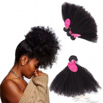 Afro Kinky Curly Brazilian Virgin Hair Wefts 4pcs/Lot Human Virgin Hair Weaves 4 Bundles [BRWAKC4]
