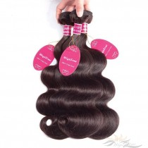 Color #2 Body Wave Brazilian Virgin Hair Wefts 3pcs/Lot Human Virgin Hair Weaves 3 Bundles [BRW#2BW3]