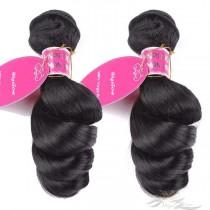 LOOSE CURL BIG SPIRAL CURL Brazilian Virgin Hair Wefts 2pcs/Lot Human Virgin Hair Weaves 2 Bundles [BRWLC2]