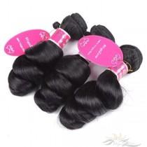 Big Spiral Curl / Loose Curl Brazilian Virgin Hair Wefts 3pcs/Lot Human Virgin Hair Weaves 3 Bundles [BRWLC3]