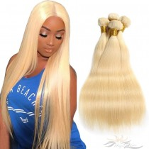 Color 613 Silky Straight Brazilian Virgin Hair Wefts Human Virgin Hair Weaves  [BRW613ST]