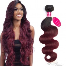 Ombre Color T1B/99J Body Wave Brazilian Virgin Hair Wefts Human Virgin Hair Weaves  [BRT1B99JBW]