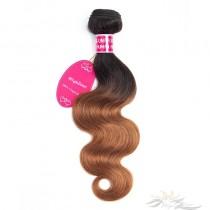 Ombre Color T1B/30 Body Wave Brazilian Virgin Hair Wefts Human Virgin Hair Weaves [BRT1B30BW]