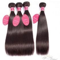 Color #2 Silky Straight Brazilian Virgin Hair Wefts 4pcs/Lot Human Virgin Hair Weaves 4 Bundles [BRW#2ST4]