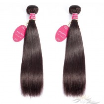 Color #2 Silky Straight Brazilian Virgin Hair Wefts 2pcs/Lot Human Virgin Hair Weaves 2 Bundles [BRW2ST2]