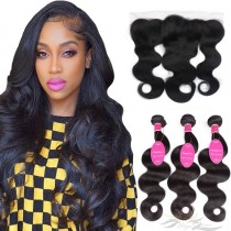 Body Wave Brazilian Virgin Hair Lace Frontal + Hair Wefts Bundle Sale [BLWBW]
