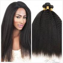 Kinky Straight Kinky Yaki Straight Color 1B African American Hair Ultima Fiber Hair Weft   [SUWKT]