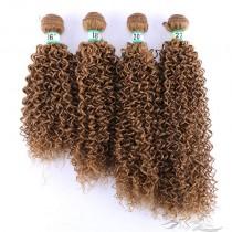 Kinky Curl Color #27 African American Hair Ultima Fiber Hair Weft   [SUWKC27]
