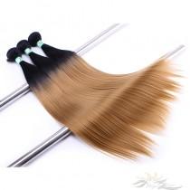Ombre 1B/27# Straight Hair Ultima Fiber Hair Weft   [SUW1B27]