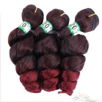 Funmi Hair Curl Ombre Color 1b/118 African American Hair Ultima Fiber Hair Weft   [SUWF]
