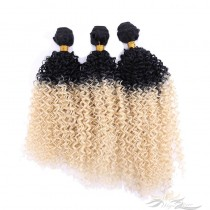Curly Ombre Color 1B/613 African American Hair Ultima Fiber Hair Weft   [SUWKC1B613]