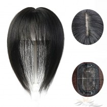 3D Bionic Scalp Silk Top Human Virgin Hair Bang Fringe Hair Pieces Hair Replacement 100% Top Quality Human Virgin Hair Silk Top Hidden Knots [FB21]