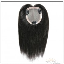 Mono Silk Top Human Virgin Hair Pieces Hair Replacement Mono Silk Base Hair Topper Clips-in Hairpieces [HP41]