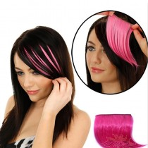 Universal Color Gradient Invisible Seamless Hair Extension Hair Piece Straight Bang [HA11]
