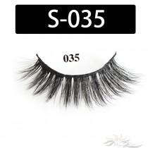 5D Silk Lashes Handmade Natural False Eyelash 5 Pairs/Pack [S-035]