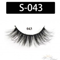 5D Silk Lashes Handmade Natural False Eyelash 5 Pairs/Pack [S-043]