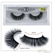3D Mink Eyelashes 3D Layered Effect Faux Siberian Mink Fur Reusable Hand Made Strips Eyelashes 1 Pair [SD-05]