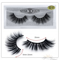 3D Mink Eyelashes 3D Layered Effect Faux Siberian Mink Fur Reusable Hand Made Strips Eyelashes 1 Pair [SD-07]