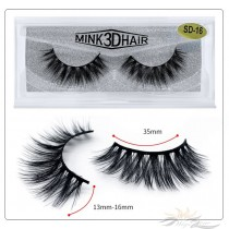 3D Mink Eyelashes 3D Layered Effect Faux Siberian Mink Fur Reusable Hand Made Strips Eyelashes 1 Pair [SD-16]