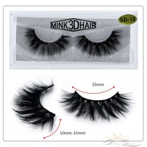 3D Mink Eyelashes 3D Layered Effect Faux Siberian Mink Fur Reusable Hand Made Strips Eyelashes 1 Pair [SD-18]