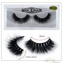 3D Mink Eyelashes 3D Layered Effect Faux Siberian Mink Fur Reusable Hand Made Strips Eyelashes 1 Pair [SD-20]