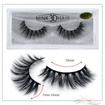 3D Mink Eyelashes 3D Layered Effect Faux Siberian Mink Fur Reusable Hand Made Strips Eyelashes 1 Pair [SD-67]