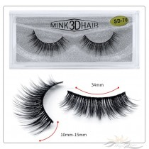 3D Mink Eyelashes 3D Layered Effect Faux Siberian Mink Fur Reusable Hand Made Strips Eyelashes 1 Pair [SD-70]