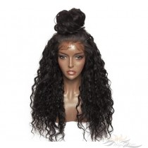 Futura Fiber Lace Front Wig 24inch Curly 1B Looks & Feels Like Human Hair [SHC]
