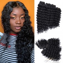 Deep Curl Color 1B African American Hair Ultima Fiber Hair Weft   [SUWDC]