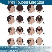 Man Toupee Base Size Measurements Helpful Information