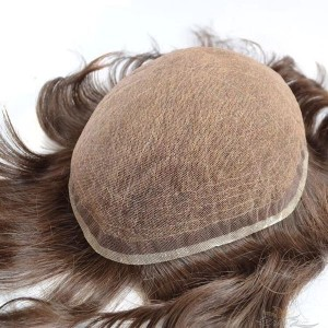 Ready To Ship Full Lace Toupee for Men Super Fine Swiss Lace Hair Replacement System Top Quality Human Hair Hairpieces [SUPER SWISS LACE]