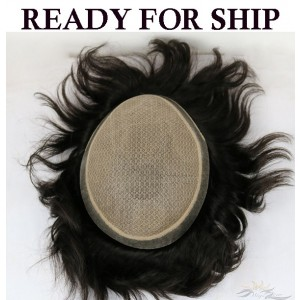 Ready To Ship Silk Base Stock Toupee for Men Hidden Knots Hair Replacement System Top Quality Human Hair Hairpieces [ST36]