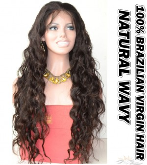 Natural Wavy Brazilian Virgin Human Hair HD Lace 360 Lace Wig 150% Density Pre-Plucked Hairline