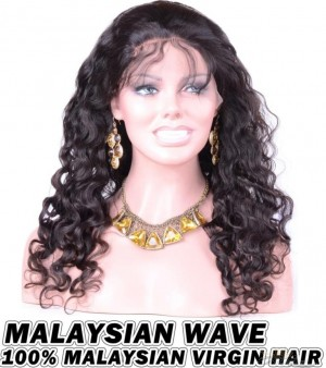 Malaysian Wave Malaysian Virgin Human Hair HD Lace 360 Lace Wig 150% Density Pre-Plucked Hairline